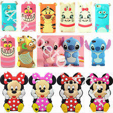 3D Cartoon Cute Silicone Soft Dropproof Cover Case Skin For iPhone Samsung iPod