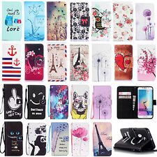 Fashion Vintage Card Holder Wallet Flip Case Cover Stand Fr Samsung Galaxy S6 J1