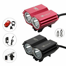 SolarStorm 5000Lm 2x CREE XM-L U2 LED Bicycle Bike HeadLight Head Rear Light Set