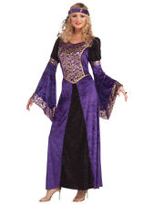 Ladies Renaissance Maiden Medieval Juliet Tudor Queen Fancy Dress Costume New