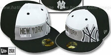New York Yankees Foul Ball New Era Blk/Whi/Gry 59 Fifty Fitted Hat Authentic