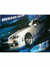 "2 FAST 2 FURIOUS MINI POSTER ""LICENSED"" NISSAN SKYLINE  ""BRAND NEW"""