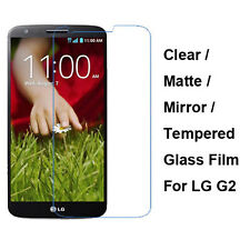 Tempered Glass / Clear / Matte / Mirror Front Screen Film Protector For LG G2
