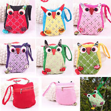 Cute lovely Lady Girls Owl Coin Purse Wallet Mobile Phone Zipper Bag Multi-color