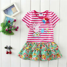 new summer kids girl cartoon peppa Clothing skirt dress