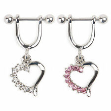 1 Pcs Amazing Surgical Steel Love Heart Nipple Shield Bar Ring Body Piercing