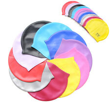 ONE SIZE FIT ALL NEW UNISEX ADULT CHILDREN SILICONE SWIMMING SWIM HAT CAP