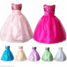 Flower Girls Princess Pageant Wedding Bridesmaid Party Formal Sequin Dresses