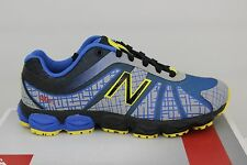Kid's New Balance 890 V4 Running Grey/Blue/Yellow/Blk Size 13 KJ890BBP Brand New