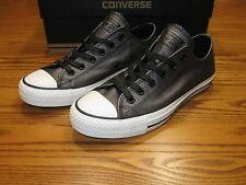 New Converse Chuck Taylor Leather Ox Shoes Black 544924C Women's 8  $65
