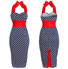 NEW VINTAGE 50'S 60'S ROCKABILLY RETRO OFFICE PENCIL PIN UP DRESS [6 sizes]