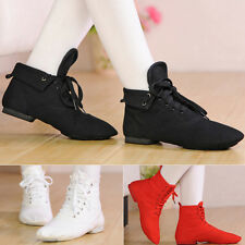 CANVAS CHILDREN GIRLS WOMEN JAZZ DANCE SHOES SPLIT SOLE BRAND MEN COMFORTABLE