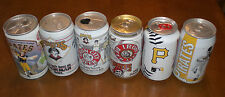 6 PITTSBURGH PIRATES DIFFERENT BEER CANS -  IRON CITY - BUDWEISER