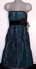 NWT Nicole Miller Strapless Formal Party Cocktail Evening Short Dress Teal 10 14