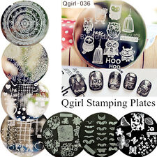 Qgirl Series Nail Art Stamp Template Image Stamping Plate Stencil Manicure DIY