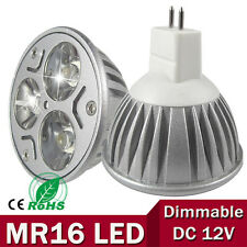 Dimmable MR16 9W LED Spot Light Bulbs Warm Cool White DC/AC 12V downlights 3X3W