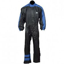 Rain Suit 1 Piece Suit Motorcycle Motorbike Waterproof Blue/Black