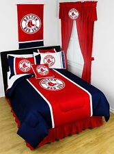 Boston Red Sox Comforter Sham & Bedskirt Twin Full Queen King Size