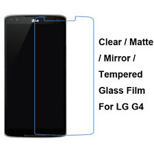 Tempered Glass / Clear / Matte / Mirror Front Screen Film Protector For LG G4
