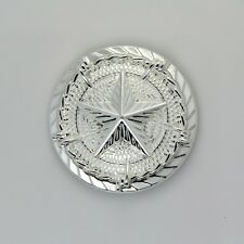 【KB206】1-1/4'' Western Texas Star Saddle Conchos with Barb Wire Sterling-Silver