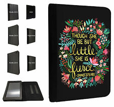 333-Floral Shakespeare quote Kindle Fire Hd 7'' HDX Paperwhite Case Flip cover
