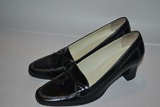 Ralph Lauren Gemini Shoes Heels Pumps Black Leather Tassel Size 8.5 B BRAZIL