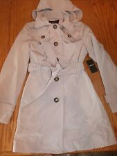NWT WOMENS LONDON FOG TOFFEE BEIGE TRENCH COAT DETACHABLE HOOD X-LARGE XL