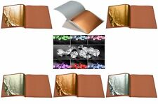 24k Gold on Base Leaf Sheets + Pure .999 Edible Silver Leaf For Arts Crafts Cake