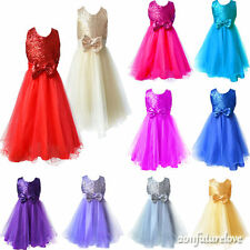Flower Girl Kid Dress Princess Pageant Wedding Bridesmaid Party Communion 2-8Y