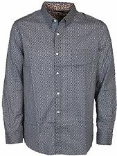 MENS SHIRT FRENCH CONNECTION 52AX9 LONG SLEEVE DARKEST BLUE COLOUR RRP £34.99