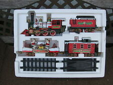NEW BRIGHT HOLIDAY EXPRESS ELECTRIC TRAIN SET G SCALE COMPLETE. MODEL # 0181