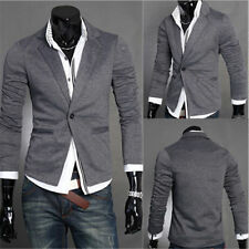 Fashion Stylish Men's Casual Slim Fit One Button Suit Blazer Coat Jacket Tops AA