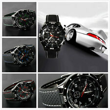 Hot Men Racer Military Pilot Aviator Army Style Silicone Sport Wrist Watch