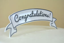 Congratulations Cake Topper Modern Simple Marquee Scroll Baby Shower Retirement