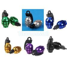 2pcs Durable Grenade Shape Car Bike Tyre Valve Dust Cap Cover 6Colors U Pick New