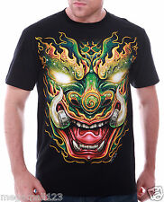 RC Survivor 3D T-Shirt Dragon Tattoo T45 Sz M L XL XXL 3XL Biker Stud mma Vtg D1