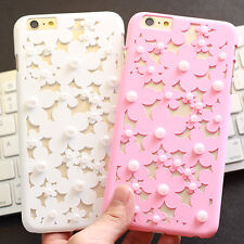 Trend Hollow cute Pearl Daisy Radiating back case cover for iphone 7 6 6S plus