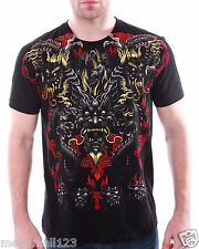 Artful Couture T-Shirt Tattoo Dragon Indie mma Foil Rock AB75 Sz M L XL XXL D1