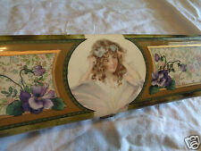 ANTIQUE VICTORIAN GIRL POPPING OUT OF FLOWER PURPLE VIOLETS GLOVE DRESSER BOX