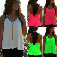 Fashion Womens Summer Casual Chiffon Vest Tops Tank Sleeveless T Shirt Blouse