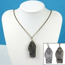 Punk Gothic Coffin Locket Vampire Pendant Sweater Chain Necklace Charm Jewelry
