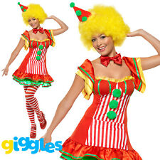 Boo Boo Clown Costume Womens Ladies Sexy Circus Halloween Fancy Dress Outfit