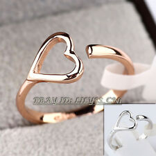 Fashion Heart Ring 18KGP Size 5.5-9