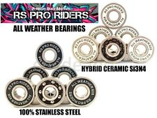 √ Si3N4 CERAMIC HYBRID ALL WEATHER BEARINGS INLINE SKATE ROLLER HOCKEY DERBY √