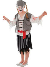 Zombie Kids Halloween Fancy Dress Party Girls Childrens Pirate Costume Ages 3-10