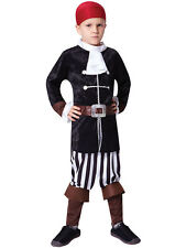 Childs Bucaneer Pirate Captain New Fancy Dress Costume Kids Sparrow Outfit 3-10