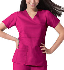 Scrub Dickies Gen Flex Youtility Mock Wrap Top 817355 Hot Pink   FREE SHIPPING