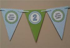 D1 - Personalised Bunting Shabby Chic Birthday Banner 1st 2nd 3rd 5th Boys Girls