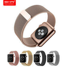 Stainless Steel Magnetic closure Milanese Loop Watch band Strap For Apple Watch