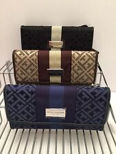 Tommy Hilfiger Woman's Wallet/Checkbook Case *Black Brown Navy Multi-Color *New
